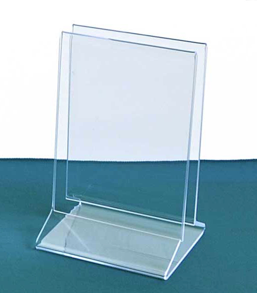 Two Menu Holders with Space for Napkins | Combination Menu - Sign and  Tabletop Napkin Stand