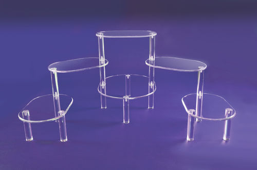 Acrylic Pedestal Stand | Extra Large Platform Display with Oval or Rectangular Platforms