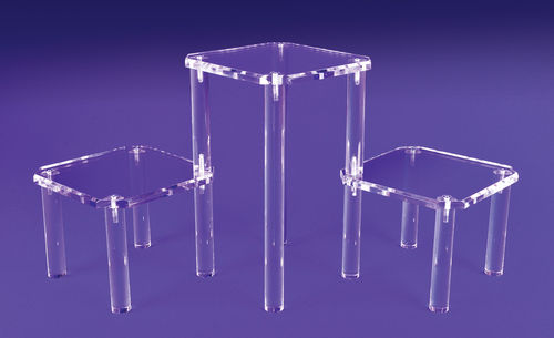 Adjustable Shelf Risers | Retail Display Pedestals with 3 Platforms