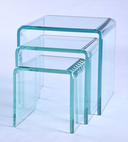 Green Glass Look Risers