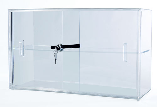 Acrylic Display Case with Sliding Doors