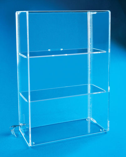 Locking Display Case with 2 Shelves