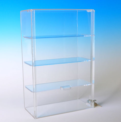 Locking Acrylic Case with 3 Shelves