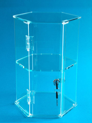 12 inch Locking Hexagonal Display Case