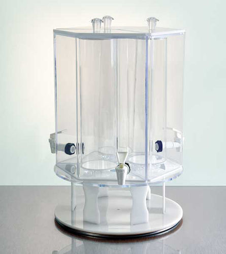 Rotating 3 Drink Dispenser with Ice Tubes | Rotating Juicer with Ice Tubes
