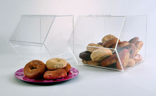 Stackable Bagel Bins | Large Food Bins | Bulk Food Bins
