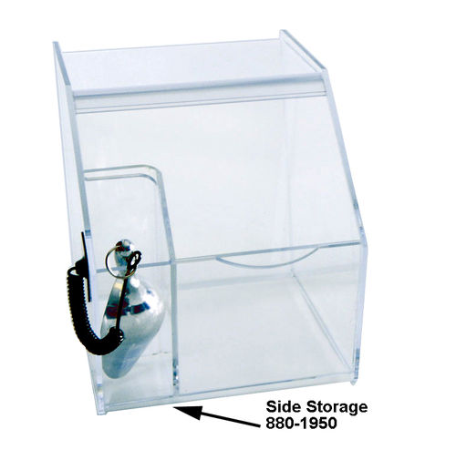 Food Bin | Bulk Bins | Acrylic Bin | Candy Bin w Tethered Scoop | Acrylic Bin for Food and Candy