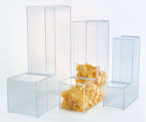 Gravity Feed Bulk Dispensers with Hinged Lids | 3 Sizes