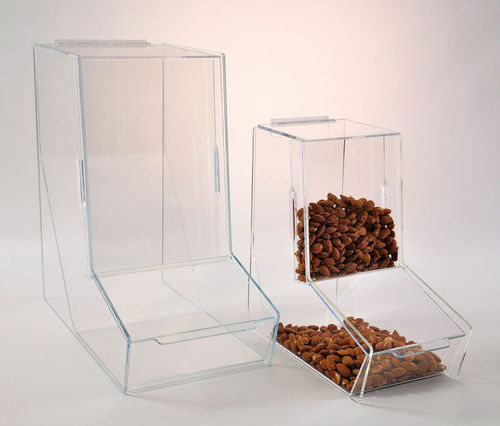 Bulk Bin with Display Front in 2 Sizes | Gravity Feed Food Dispenser