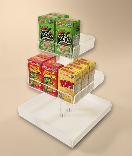 Rotating Cereal Box Display for Breakfast Buffets - #880-1870