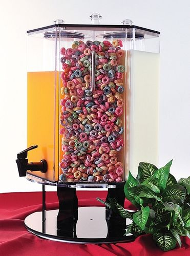 Drink & Cereal Display with Mix & Match Dispensers | Rotating Display for Breakfast Service