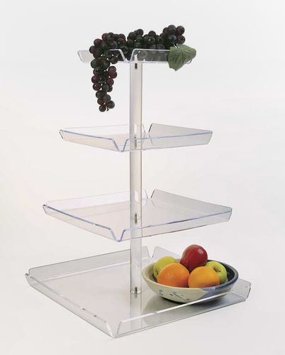 4 Tiered Tray Tower - TRAYT4 | Countertop Tower Display