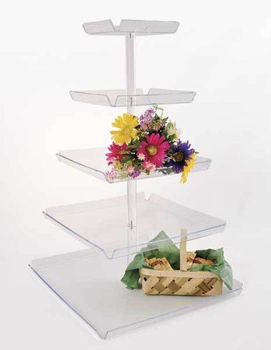 5 Tiered Tray Tower - TRAYT5 | Countertop Tower Display