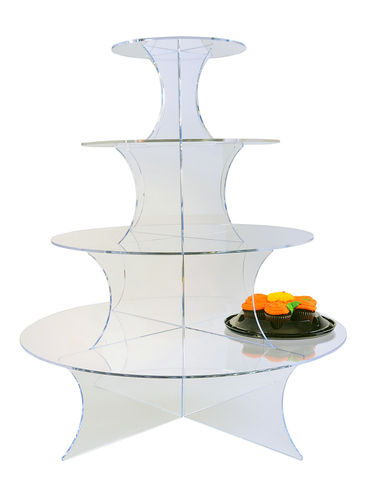 "Round ""Wedding Cake"" Tiered Towers 