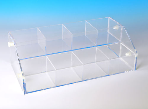 Acrylic Bin System with 2 Bins | Bins for Beads, Rocks, Minerals | Choose Trays from Choices Below