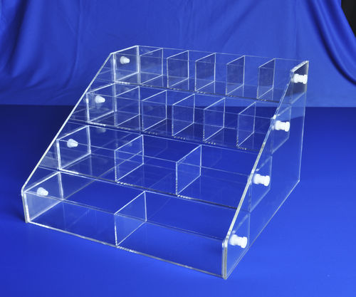 Acrylic Bins Systems with 4 Bins | Your Choice of Bins