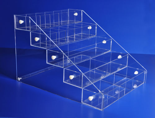 Acrylic Bins Systems with 5 Bins | Your Choice of Bins