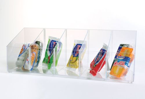 Adjustable Divided Bin Display | Bin Display with Removable Dividers