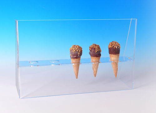 Cone Holder with Guard | Ice Cream Cone Stand with Guard