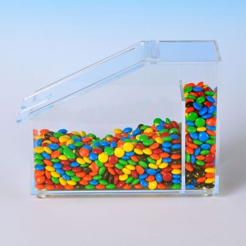 Candy Bin with Flip Up Lid | Toppings Holder