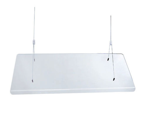 "Hanging Sneezeguard | 48"" Wide Acrylic Food Guard 
