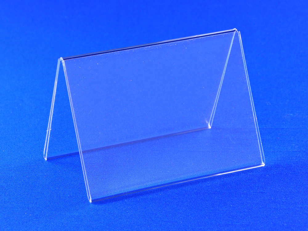 Tent Style Acrylic Frame Sided Table Tents In Sizes CHOICE - Acrylic table tents
