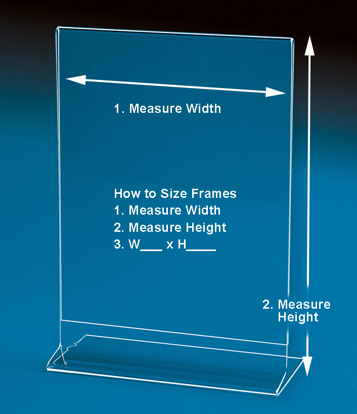 Side Loading Sign Holders and Frames   SMALL Sizes up to 4\