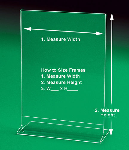 "Side Loading Sign Holders and Frames | LARGE Sizes up to 8"" x 10"" to 8-1/2"" x 14"""