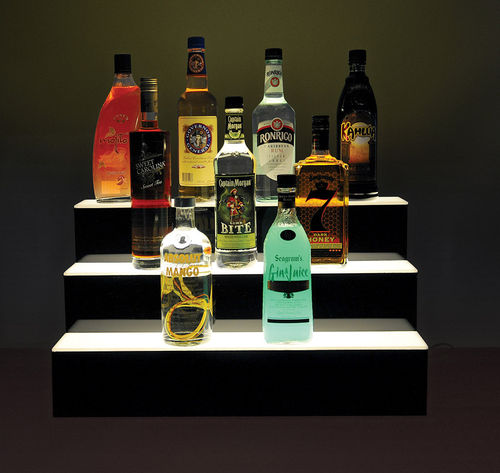 "Lighted Bottle Stairs for Bars - 24"" Wide"