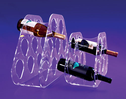 Acrylic Wine Bottle Rack in 2 Sizes | Wine Rack