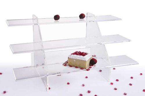 Acrylic Shelves | Wine Display Shelves | Display Shelf Unit with 3 Shelves SST10