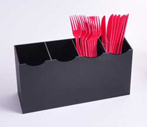 Upright Utensil Bins with 4 Compartments | Condiment Container - 880-1805