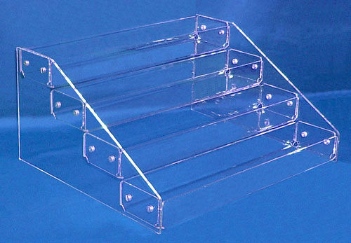 Tiered Display Trays with 4 Tiers | Countertop Retail Tray Display