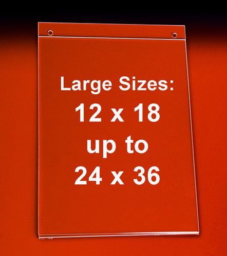 Wall Mounting Poster Frames - Hanging Sign Holders | Sizes 12x18 to 22x28