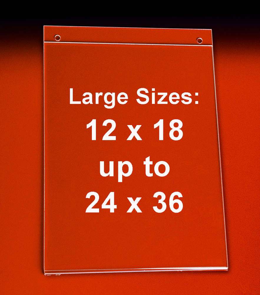 Wall Mounting Poster Frames - Hanging Sign Holders | Sizes 12x18 to ...
