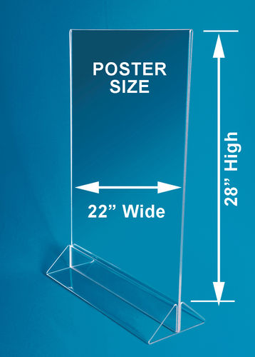 "Poster Stand with Triangle Base | Holds 32""H x 22""W Posters"