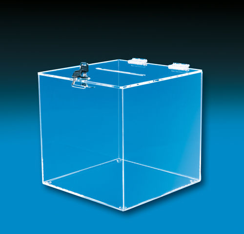 "Square Ballot Boxes - Sizes 6"" Square to 12"" Square"