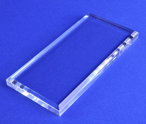 "1/2"" Thick Rectangular Top Beveled Bases - Clear or Black"