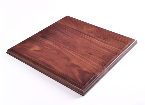 Square Wood Bases - Solid Walnut Bases
