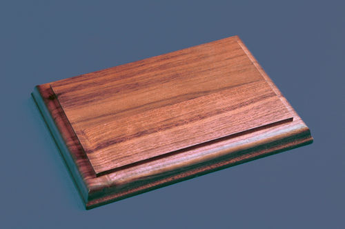 Rectangle Wood Bases - Solid Walnut Bases