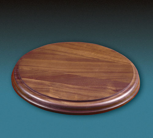Round Wood Bases - Solid Walnut Bases