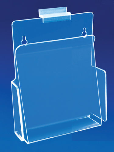 Slatwall Hold Down Style Brochure Holders 3 Sizes